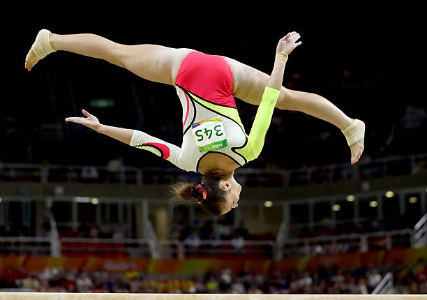 German Gymnast Pauline Schaefer Competes On The Uneven