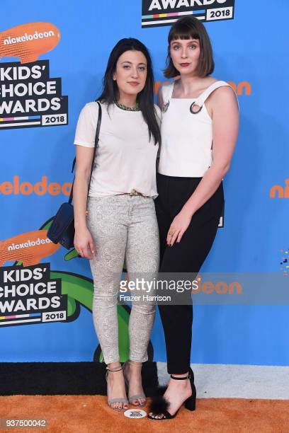 Pauline Schreibmaier and Abigail Lowenthal attend Nickelodeon's 2018 Kids' Choice Awards at The Forum on March 24 2018 in Inglewood California