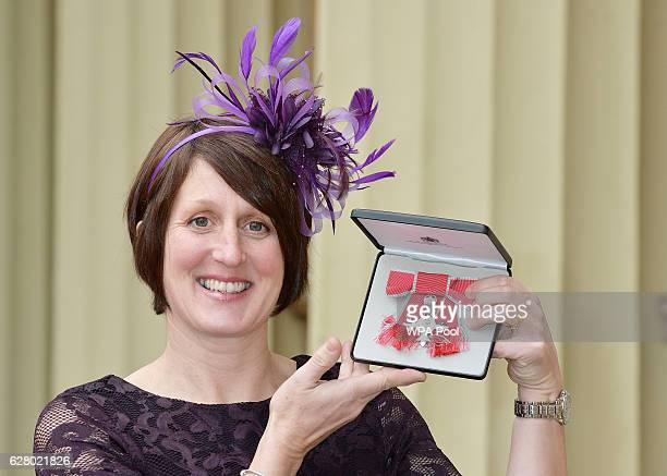 Pauline Stott with her MBE after it was presented to her by the Duke of Cambridge during an Investiture ceremony at Buckingham Palace on December 6...