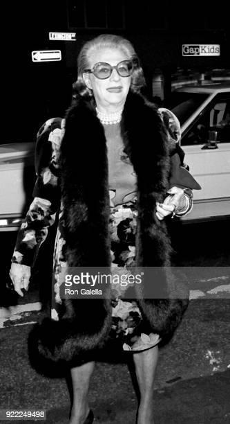 Pauline Trigere attends Fifth Annual Fete de Famille Benefit on October 2 1990 at Mortimer's Restaurant in New York City