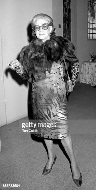 Pauline Trigere attends Sixth Annual Council of Fashion Designers of America Awards on November 2 1987 at the Metropolitan Museum of Art in New York...