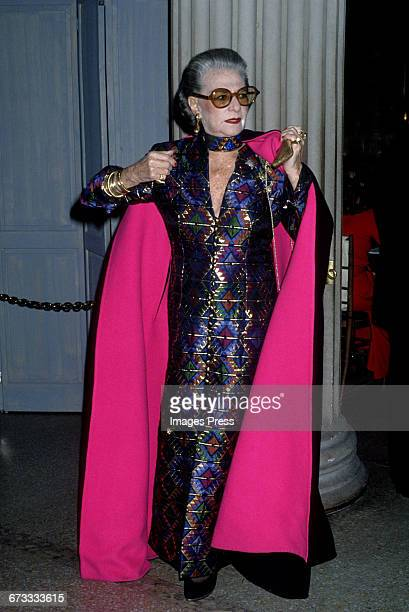 Pauline Trigere attends the 1992 Metropolitan Museum of Art's Costume Institute Gala circa 1992 in New York City.