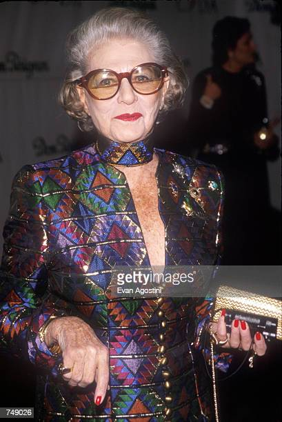 Pauline Trigere attends the Lighthouse Benefit February 11 1998 in New York City