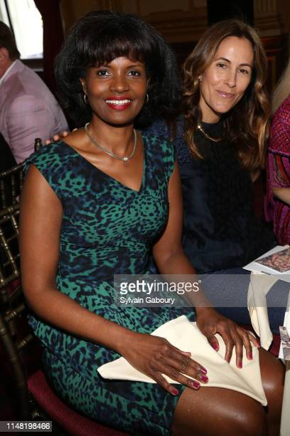 Pauline Willis and Cristina Greeven Cuomo attend American Federation Of Arts 2019 Spring Luncheon at Metropolitan Club on June 4 2019 in New York City