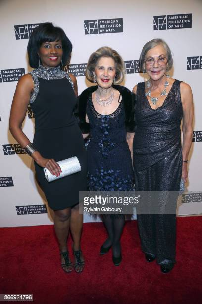 Pauline Willis Sandra Warshawsky and Alice Walton attend the American Federation of Arts 2017 Gala and Cultural Leadership Awards at The Metropolitan...