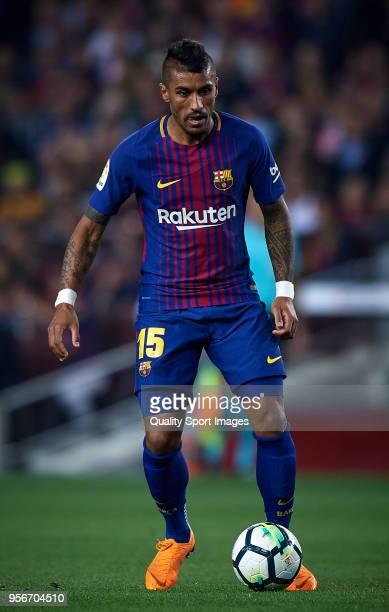 Paulinho Bezerra of Barcelona in action during the La Liga match between Barcelona and Villarreal at Camp Nou on May 9 2018 in Barcelona Spain