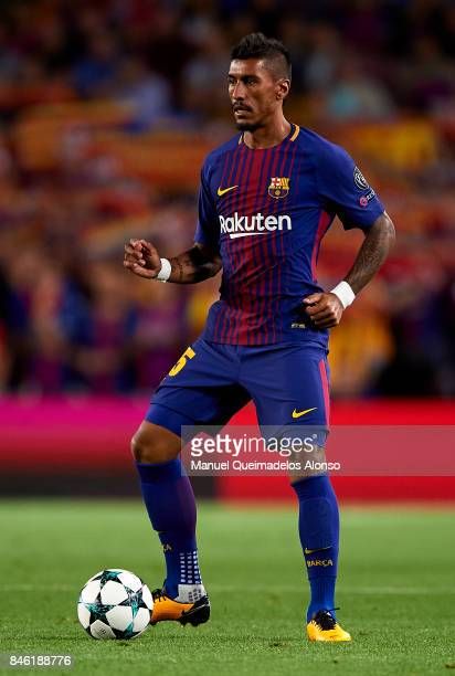 Paulinho of Barcelona in action during the UEFA Champions League group D match between FC Barcelona and Juventus at Camp Nou on September 12 2017 in...