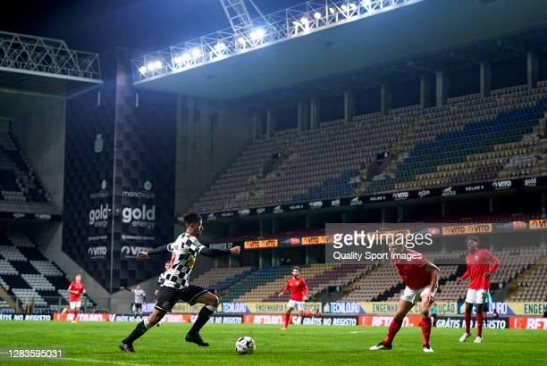 Paulinho of Boavista FC in action during the Liga NOS match between Boavista FC and SL Benfica at Estadio do Bessa Seculo XXI on November 02, 2020 in...