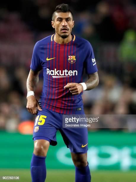 Paulinho of FC Barcelona during the La Liga Santander match between FC Barcelona v Levante at the Camp Nou on January 7 2018 in Barcelona Spain