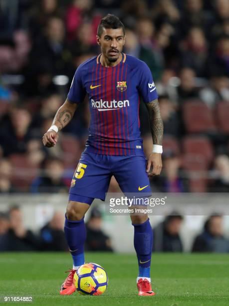 Paulinho of FC Barcelona during the La Liga Santander match between FC Barcelona v Deportivo Alaves at the Camp Nou on January 28 2018 in Barcelona...