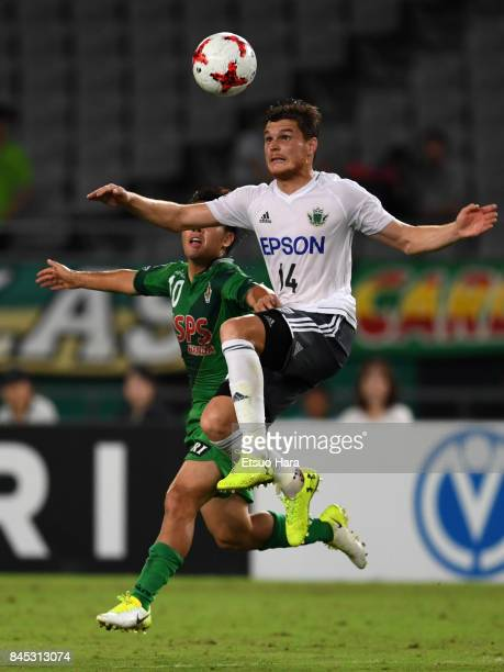 Paulinho of Matsumoto Yamaga in action during the JLeague J2 match between Tokyo Verdy and Matsumoto Yamaga at Ajinomoto Stadium on September 10 2017...