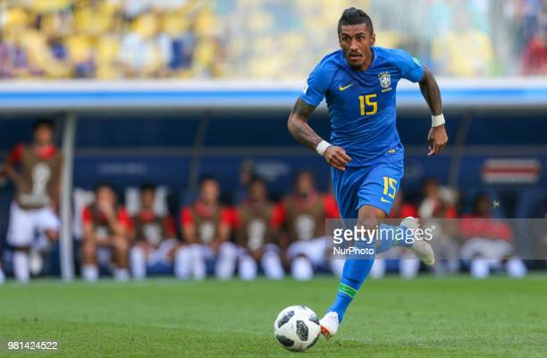 Paulinho of the Brazil national football team vie for the ball during the 2018 FIFA World Cup match first stage Group E between Brazil and Costa Rica...