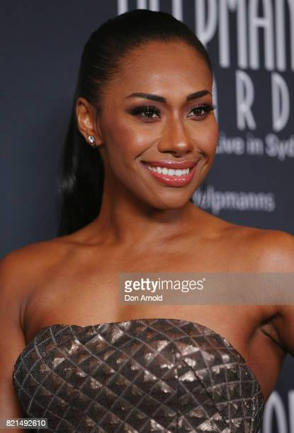 Paulini arrives ahead of the 17th Annual Helpmann Awards at Lyric Theatre Star City on July 24 2017 in Sydney Australia