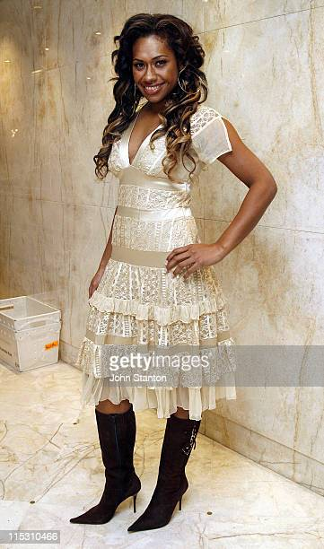 Paulini during Jade McRae and Paulini Visit 'Sunrise' August 4 2006 at Channel Seven Studios in Sydney NSW Australia