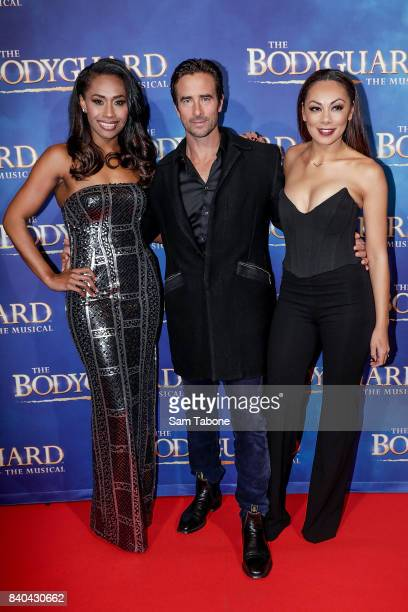 Paulini kip and Prinnie during a production media call for The Bodyguard at Regent Theatre on August 29 2017 in Melbourne Australia