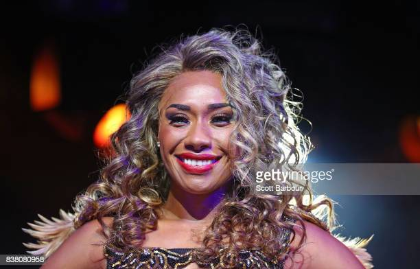 Paulini poses during a production media call for The Bodyguard at Regent Theatre on August 24 2017 in Melbourne Australia