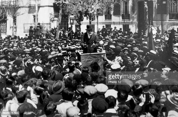 Paulino Iglesias Posse 1850 1925 better known as Pablo Iglesias Spanish socialist and labour leader addressing a crowd in 1920 He is regarded as the...