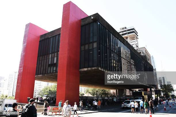 Paulista Avenue and MASP (São Paulo Art Museum) - São Paulo, Brazil