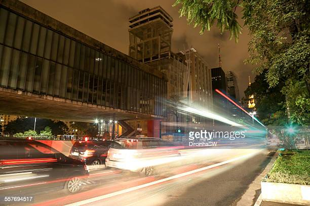 Paulista Avenue at night.