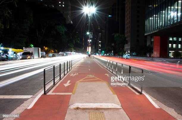 Paulista Avenue at night