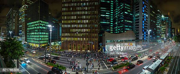 Paulista Avenue at night, Sao Paulo.