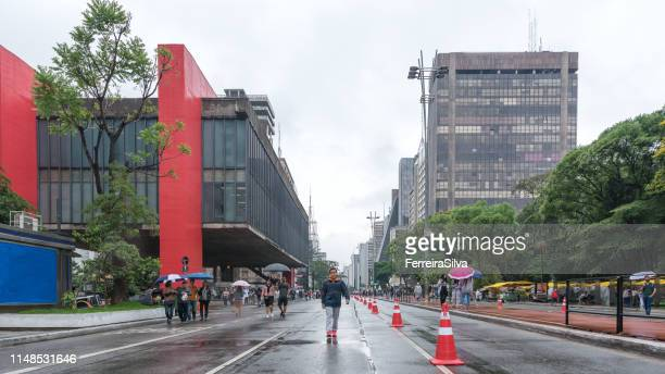 Paulista Avenue on a rainy day
