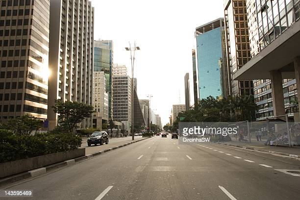 paulista avenue - high street stock pictures, royalty-free photos & images