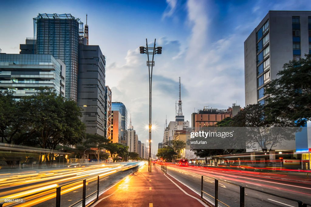 Avenida Paulista : Foto de stock