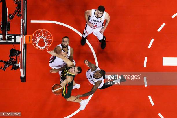 Paulius Jankunas of Lithuania drives during 2nd round Group L match between France and Lithuania of 2019 FIBA World Cup at Nanjing Youth Olympic...