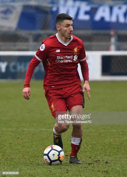 Paulo Alves of Liverpool in action during the Liverpool U23 v Charlton Athletic U23 Premier League Cup game at The Swansway Chester Stadium on...