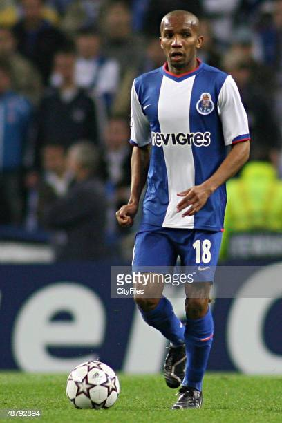 Paulo Assuncao during a UEFA Champions League First Leg match between Chelsea and FC Porto in Porto Portugal on February 21 2007