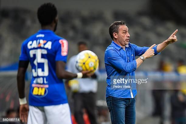 Paulo Bento coach of Cruzeiro a match between Cruzeiro and Flamengo as part of Brasileirao Series A 2016 at at Mineirao stadium on June 15, 2016 in...
