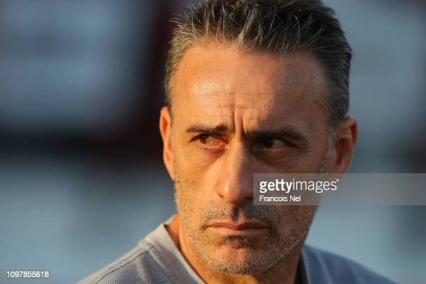Paulo Bento manager of South Korea looks on prior to the AFC Asian Cup round of 16 match between South Korea and Bahrain at Rashid Stadium on January...