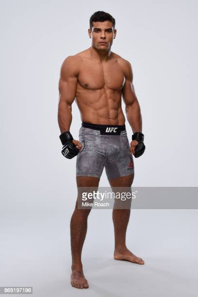 Paulo Borrachinha of Brazil poses for a portrait during a UFC photo session on November 1 2017 in New York City