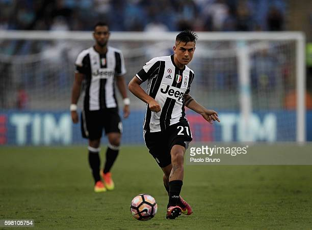 Paulo Bruno Exequiel Dybala of Juventus FC in action during the Serie A match between SS Lazio and Juventus FC at Stadio Olimpico on August 27 2016...