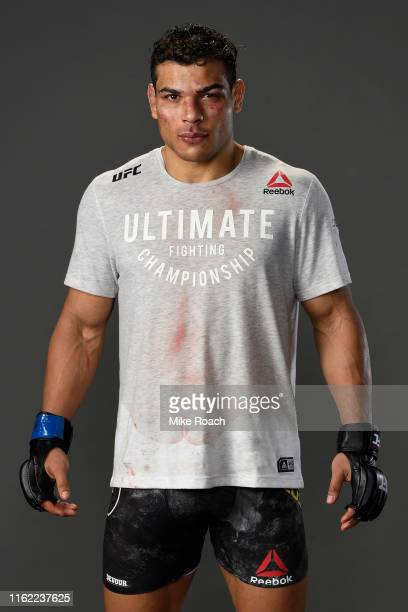 Paulo Costa of Brazil poses for a portrait backstage during the UFC 241 event at the Honda Center on August 17 2019 in Anaheim California
