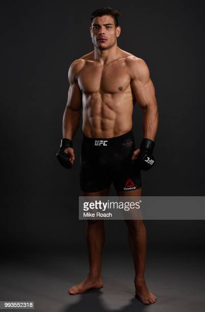 Paulo Costa poses for a portrait backstage during the UFC 226 event inside TMobile Arena on July 7 2018 in Las Vegas Nevada