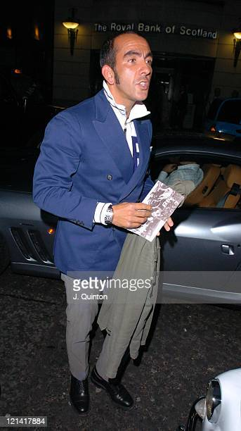 Paulo Di Canio during Fiat Hydrogen Launch Party at Sketch in London Great Britain