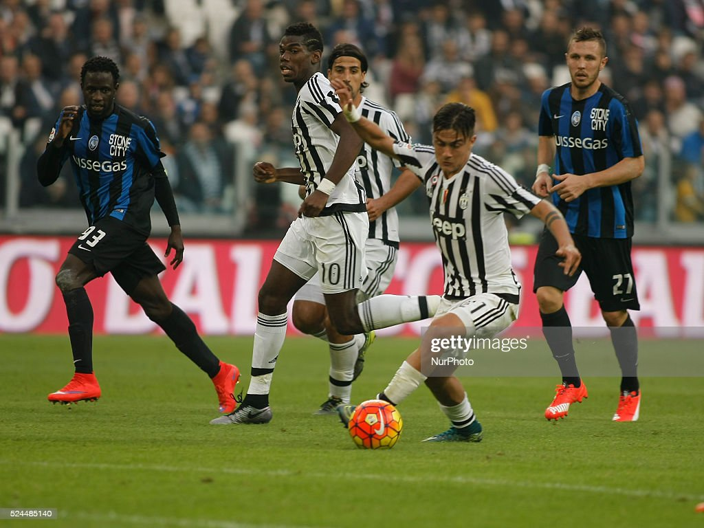 Paulo Dybala And Paul Pogba During The Serie A Match Between Juventus Fc Atalanta At