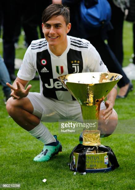 Paulo Dybala during serie A match between Juventus v Verona in Turin on May 19 2018