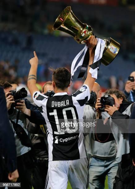 Paulo Dybala during the final of Tim Cup match between Juventus v Milan in Rome on May 9 2018
