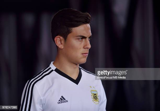 Paulo Dybala of Argentina during the 2018 FIFA World Cup Russia group D match between Argentina and Iceland at Spartak Stadium on June 16 2018 in...