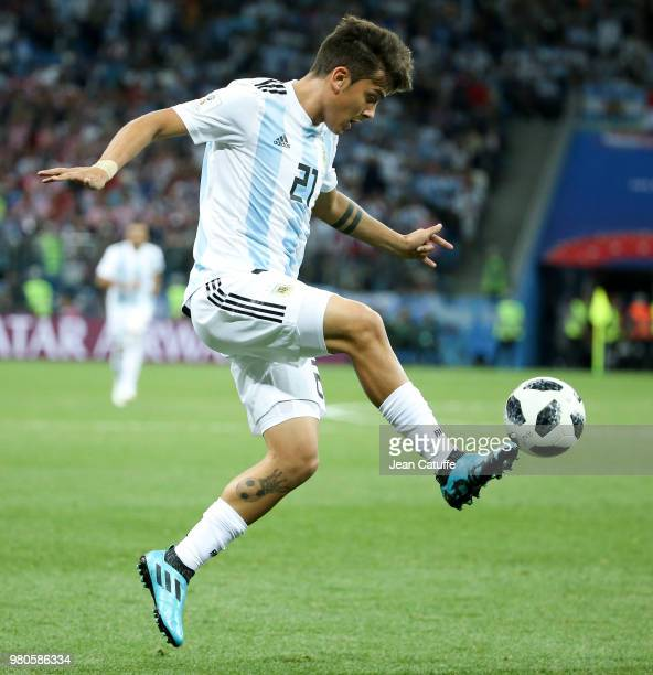 Paulo Dybala of Argentina during the 2018 FIFA World Cup Russia group D match between Argentina and Croatia at Nizhniy Novgorod Stadium on June 21...