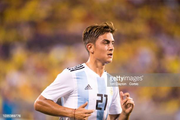 Paulo Dybala of Argentina during the Argentina Vs Colombia International Friendly football match at MetLife Stadium on September 11th 2018 in...