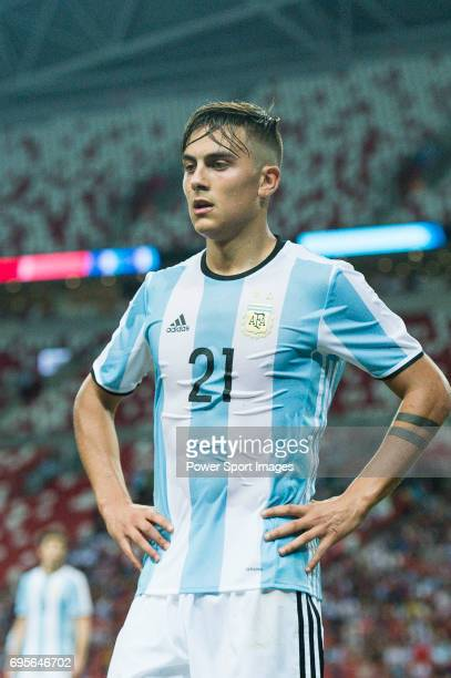 Paulo Dybala of Argentina during the International Test match between Argentina and Singapore at National Stadium on June 13 2017 in Singapore