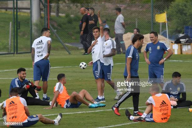 Paulo Dybala of Argentina gesture during training session ahead of the international friendly match against Mexico on November 17 2018 in Cordoba...