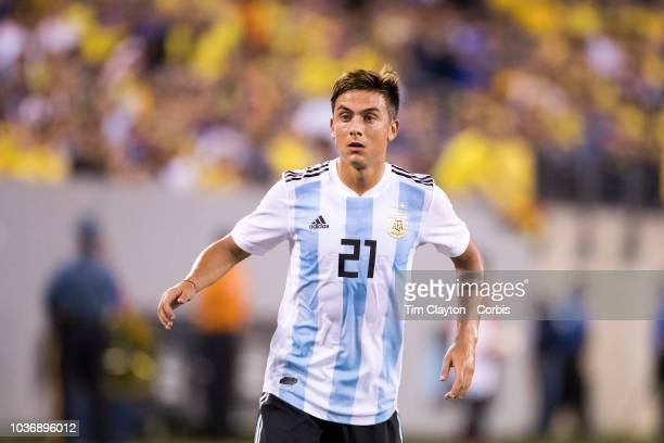 Paulo Dybala of Argentina in action during the Argentina Vs Colombia International Friendly football match at MetLife Stadium on September 11th 2018...