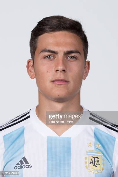 Paulo Dybala of Argentina poses for a portrait during the official FIFA World Cup 2018 portrait session on June 12 2018 in Moscow Russia