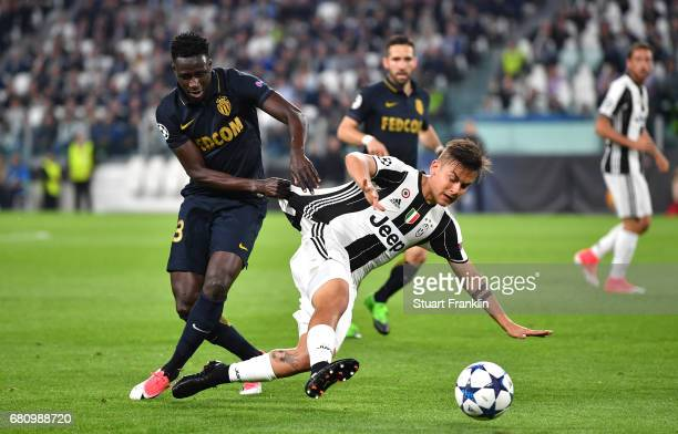 Paulo Dybala of Juventus and Benjamin Mendy of AS Monaco in action during the UEFA Champions League Semi Final second leg match between Juventus and...