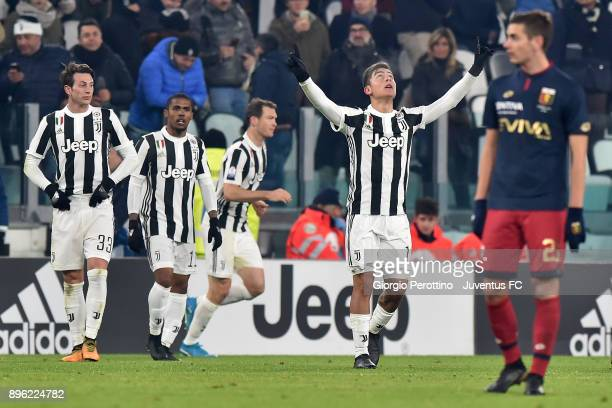 Paulo Dybala of Juventus celebrates his goal during the TIM Cup match between Juventus and Genoa CFC at Allianz Stadium on December 20 2017 in Turin...